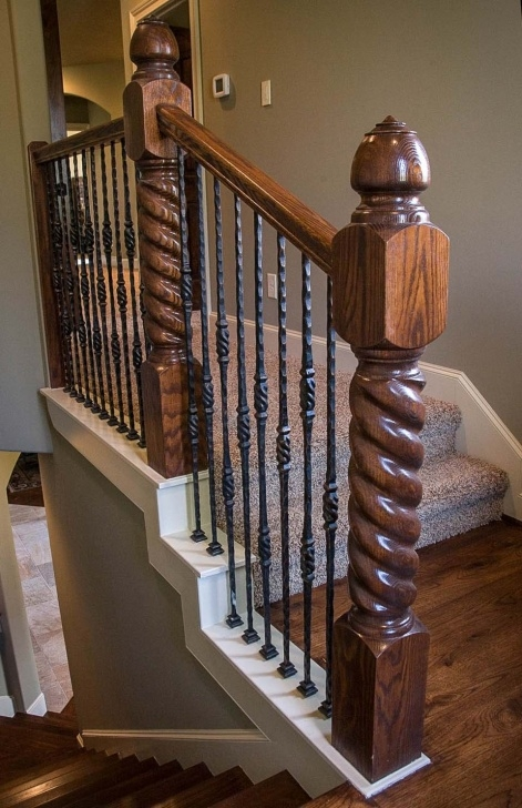 Amazing Rustic Handrails For Stairs Image 098