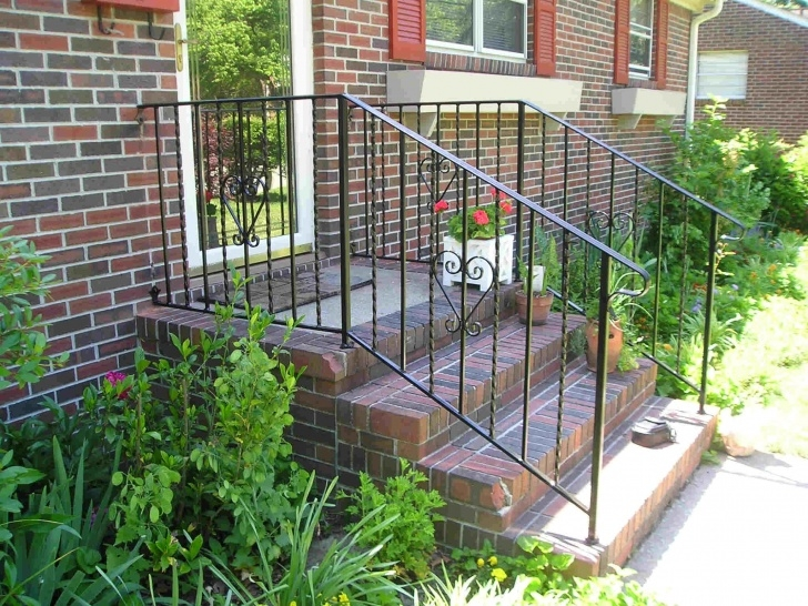 Amazing Wrought Iron Handrails For Outdoor Steps Picture 870