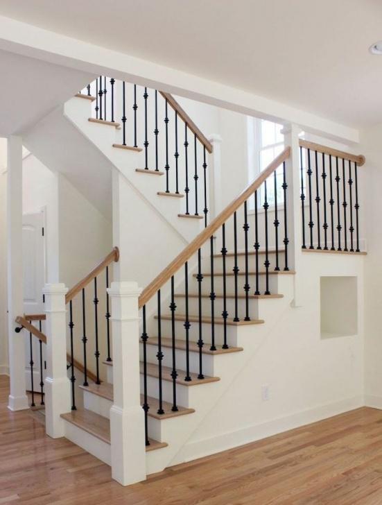 Amazingly Modern Farmhouse Stair Railing Photo 276
