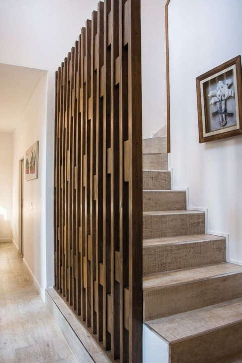 Amazingly Partition Of Stairs In Living Room Picture 589