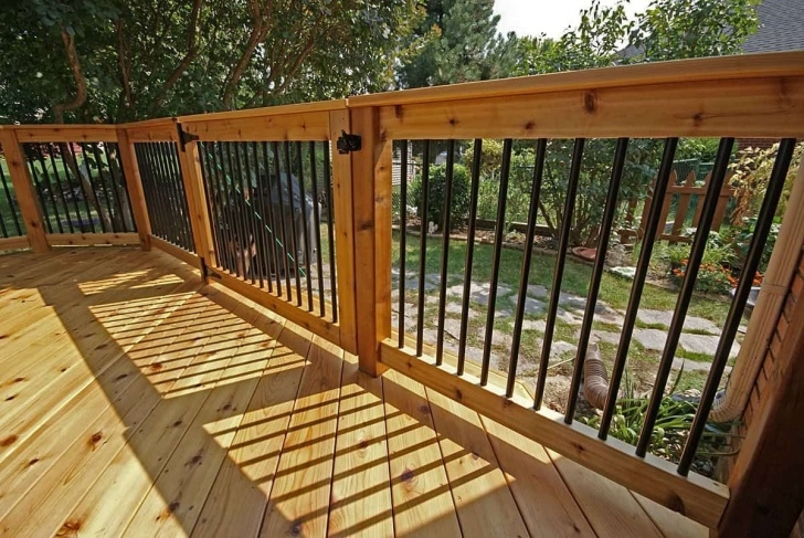 Amazingly Wood Balusters Deck Picture 145