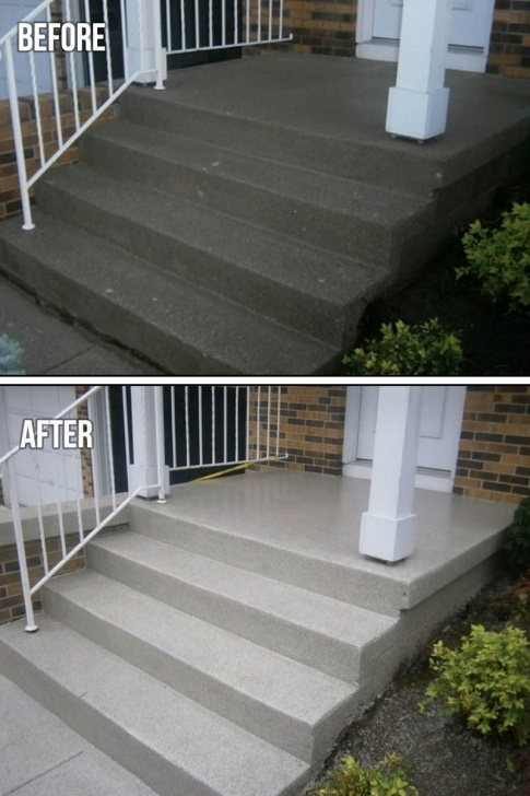 Awesome Painting Outdoor Concrete Steps Photo 282