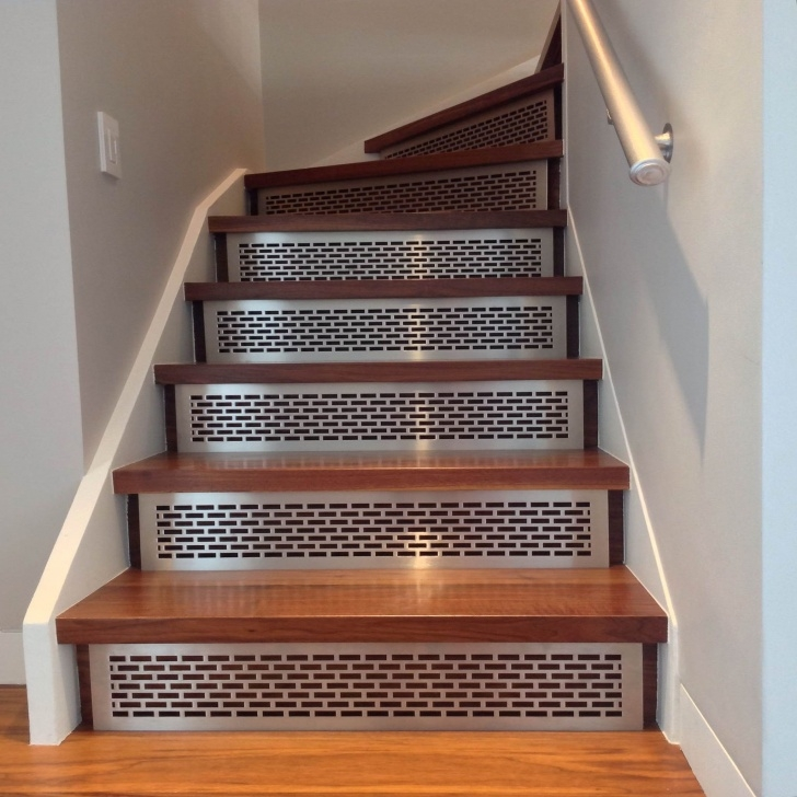 Awesome Wood Stairs With Tile Risers Picture 777