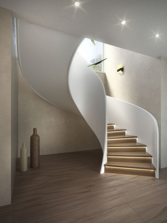 Best Cool Helical Staircase Design Image 208