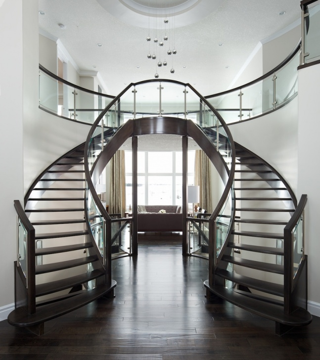 Best Cool Modern Double Staircase Picture 448