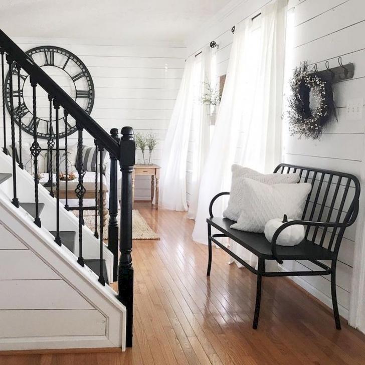 Best Cool Modern Farmhouse Stair Railing Image 955