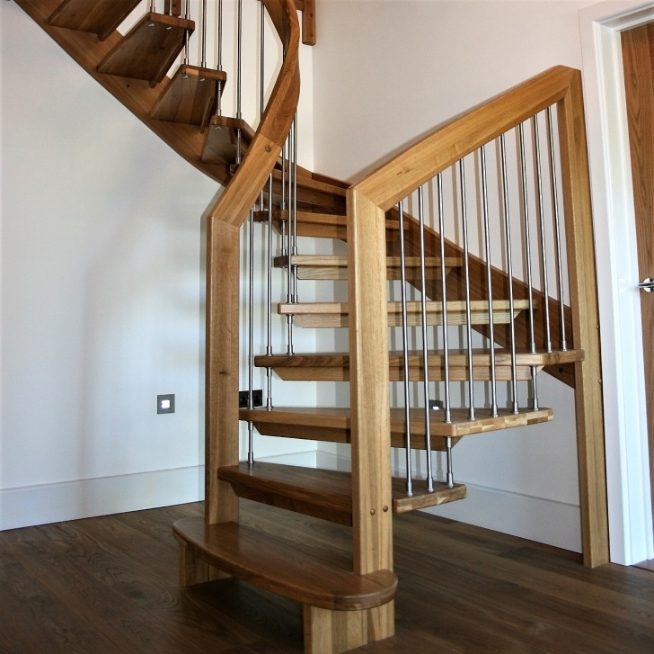 Best Curved Wooden Staircase Picture 795