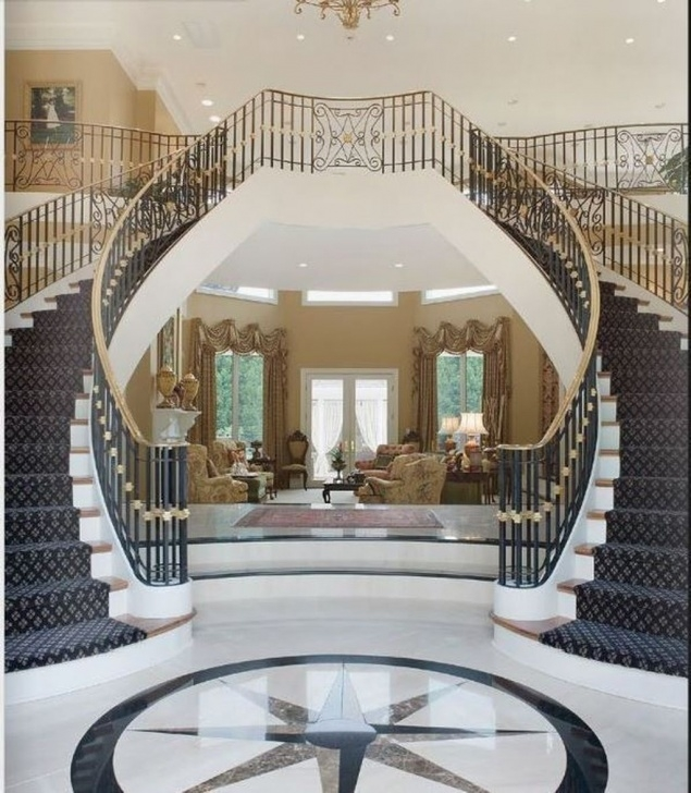 Best Modern Double Staircase Photo 123