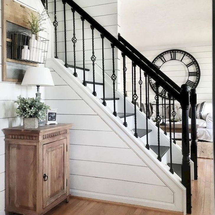 Best Modern Farmhouse Stair Railing Image 714