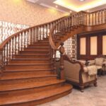Cool Curved Wooden Staircase Image 928