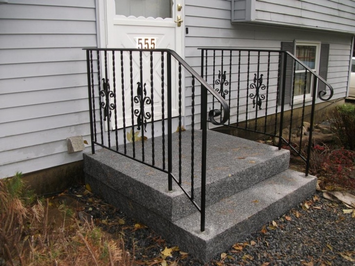 Creative Exterior Wrought Iron Stair Railings Photo 316