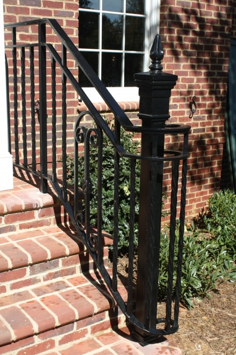 Creative Exterior Wrought Iron Stair Railings Photo 965