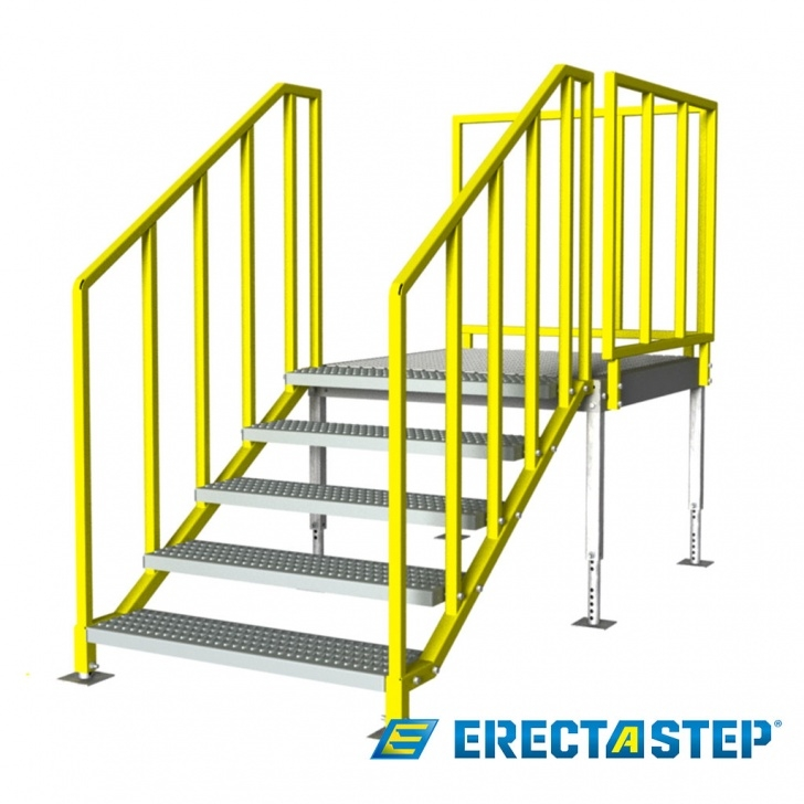 Creative Portable Stairs With Handrail Image 843