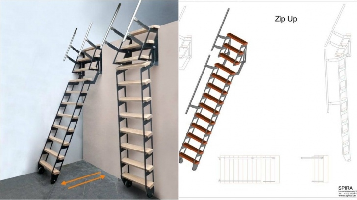 Creative Retractable Stairs Design Photo 765
