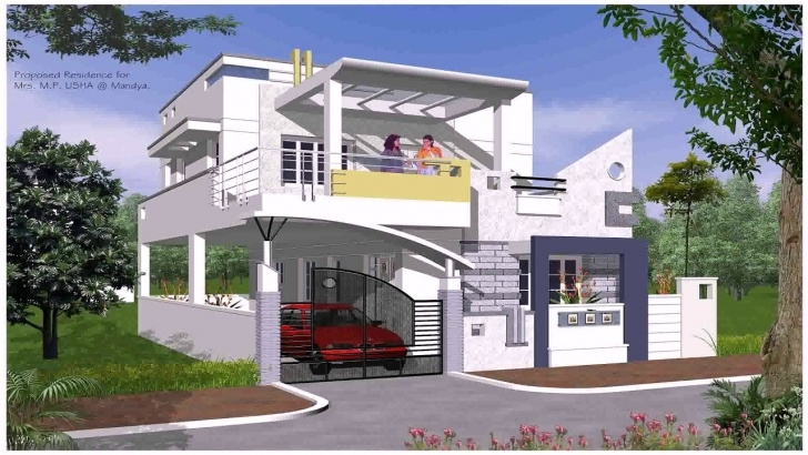 Easy Exterior Stairs Designs Of Indian Houses Image 695