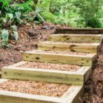 Fascinating Building Outdoor Steps With Wood Photo 708