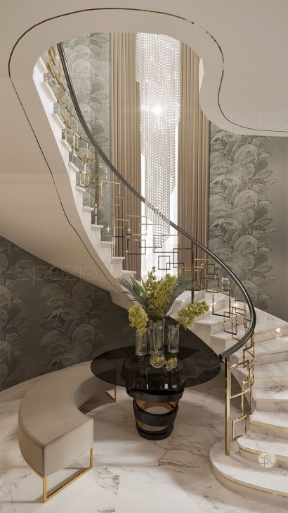 Fascinating Villa Stairs Designs Image 397