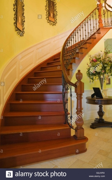 Gallery Of Curved Wooden Staircase Image 475