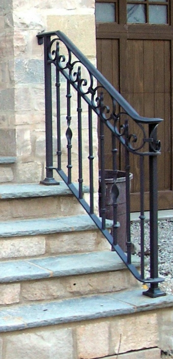Good Exterior Wrought Iron Stair Railings Photo 204