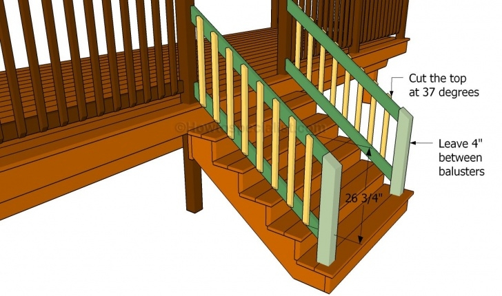 Gorgeous Building Deck Stair Railings Photo 981
