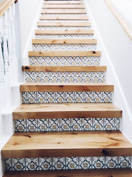 Great Ideas Wood Stairs With Tile Risers Image 711