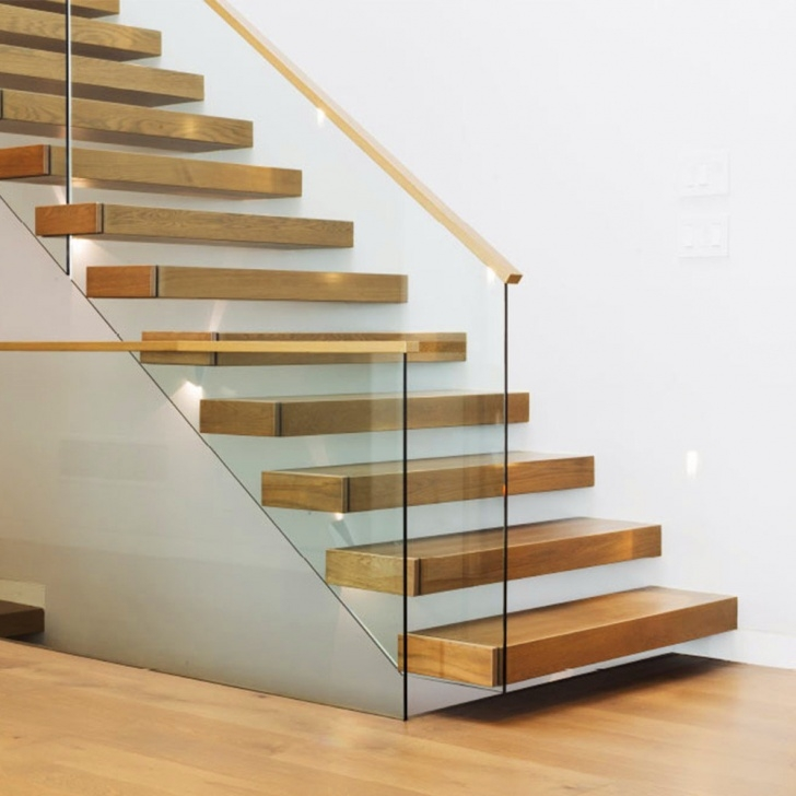 Imaginative Glass Balustrade With Timber Handrail Photo 454