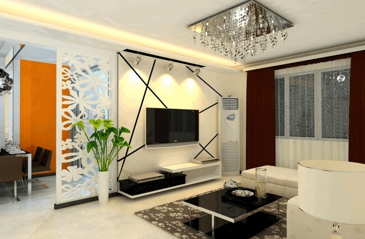 Innovative Partition Of Stairs In Living Room Image 630