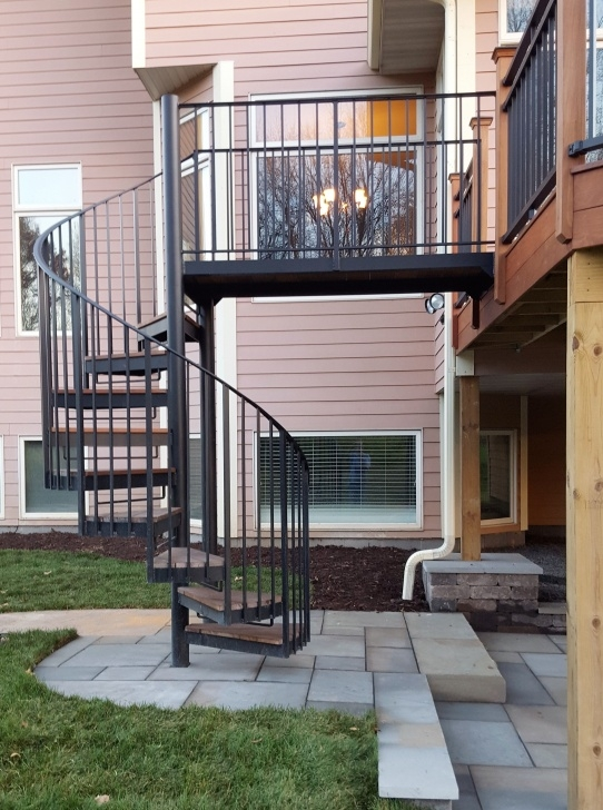 Insanely Spiral Staircase Outdoor Deck Picture 078