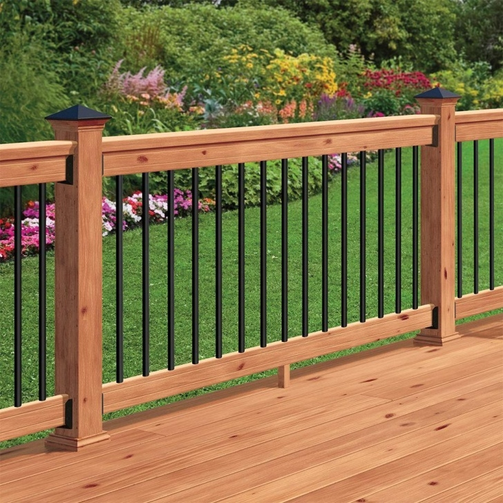 Inspirational Wood Balusters Deck Picture 390