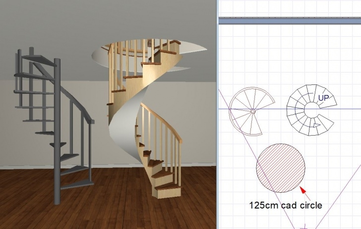Inspiring Chief Architect Spiral Stairs Picture 151