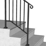 Inspiring Iron X Handrail Picket Photo 017