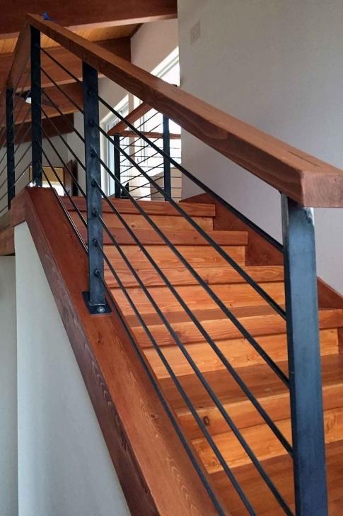 Inspiring Metal Stair Handrail Image 042