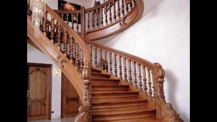 Inspiring Teak Wood Staircase Designs Photo 771