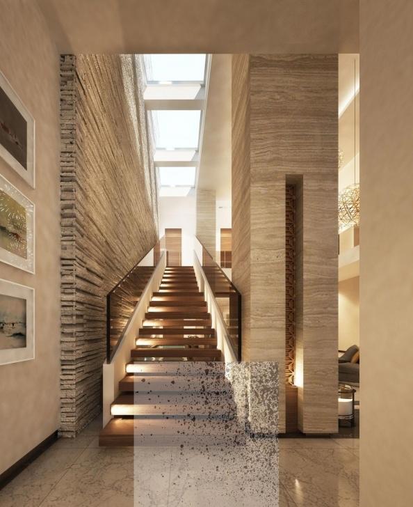 Inspiring Villa Stairs Designs Photo 447