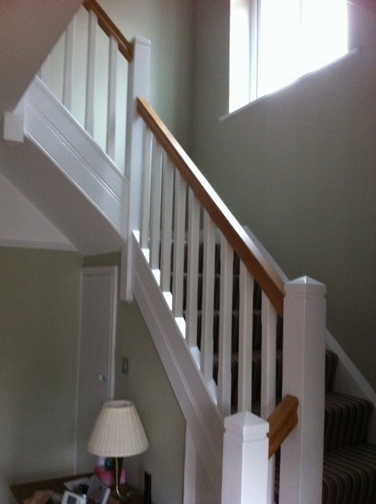 Interesting White Oak Handrail Picture 707