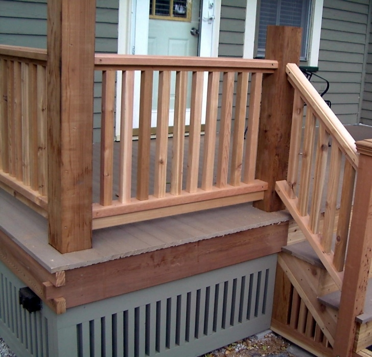 Interesting Wood Porch Handrail Image 837