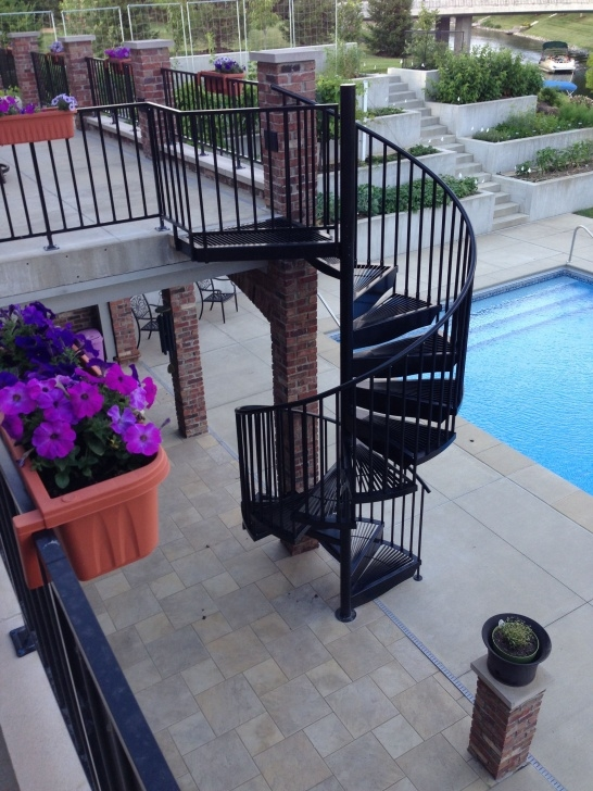 Marvelous Spiral Staircase Outdoor Deck Photo 791