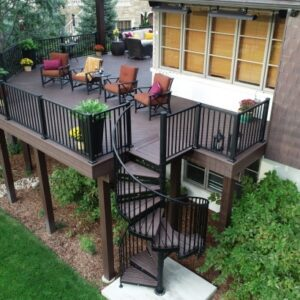 Spiral Staircase Outdoor Deck