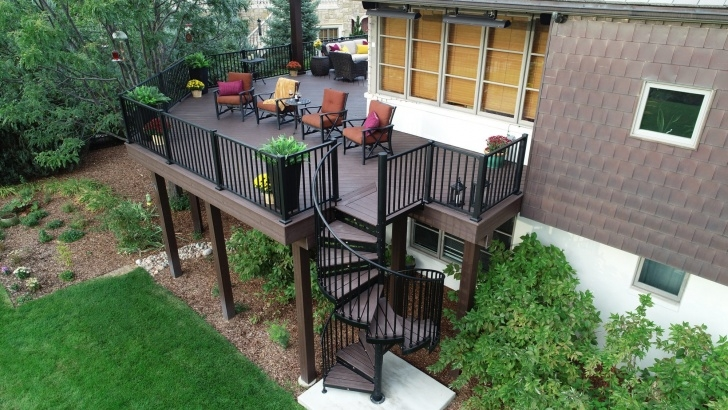 Marvelous Spiral Staircase Outdoor Deck Picture 336
