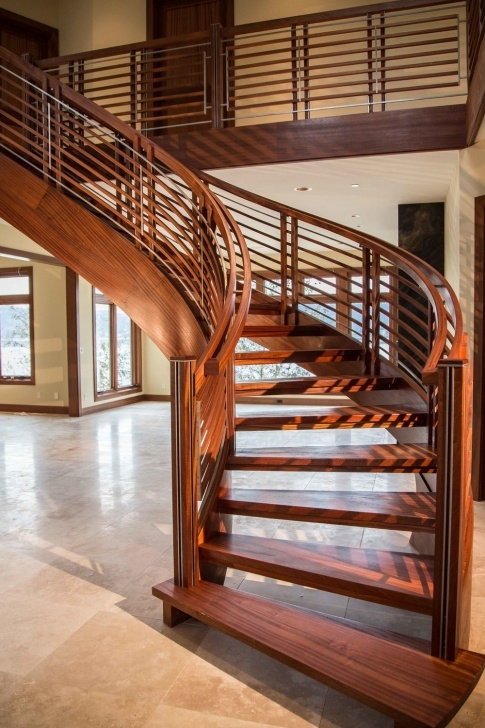 Most Creative Curved Wooden Staircase Picture 928