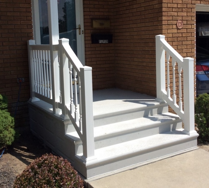 Most Creative Vinyl Handrails For Concrete Steps Picture 826
