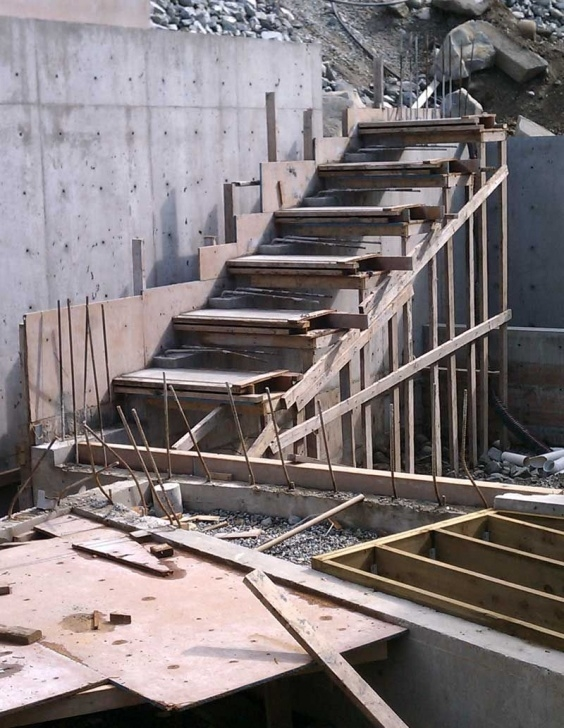 Most Perfect Concrete Stair Formwork Design Photo 359