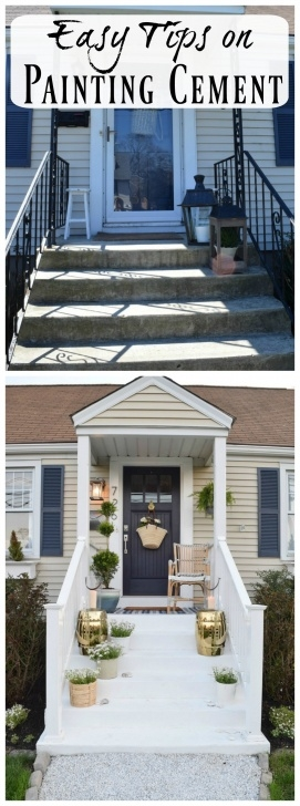 Most Perfect Painting Outdoor Concrete Steps Picture 322