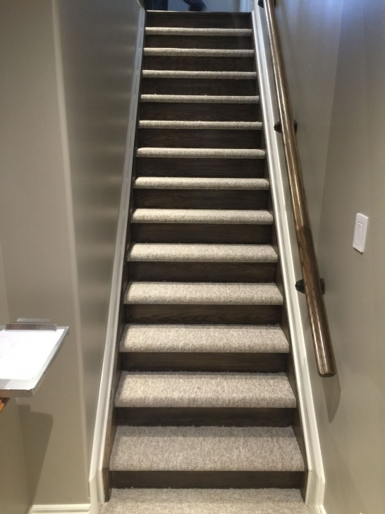 Most Perfect Wood Stairs With Tile Risers Photo 021