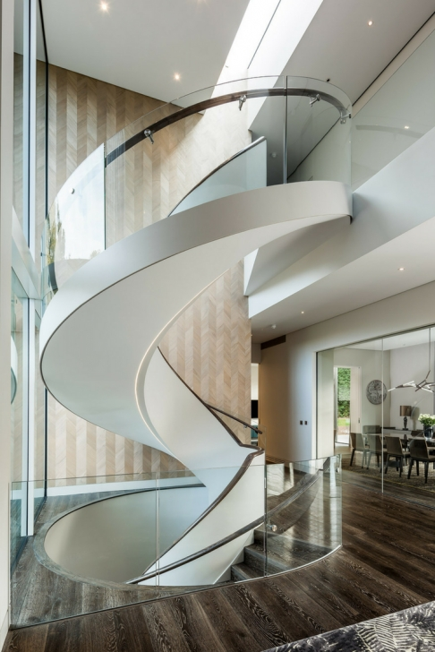 Perfect Helical Staircase Design Photo 184