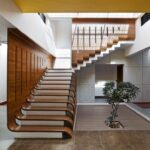 Perfect Teak Wood Staircase Designs Image 039