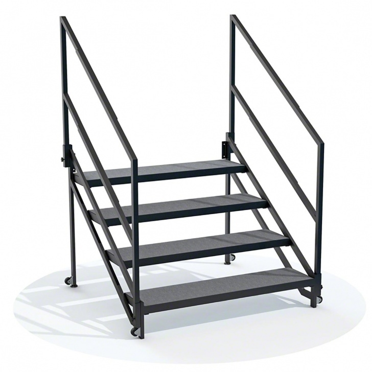 Remarkable Portable Stairs With Handrail Picture 232