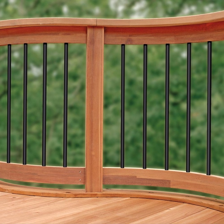 Remarkable Wood Balusters Deck Photo 554