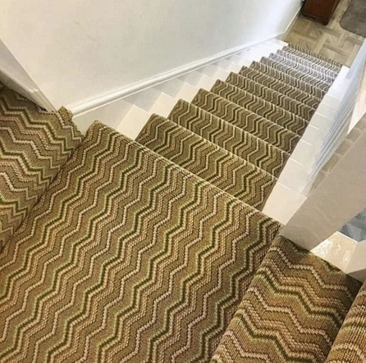 Remarkable Zig Zag Stair Carpet Photo 057