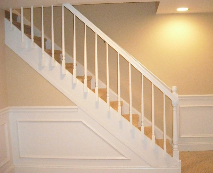 Simple Basement Stair Railing Photo 560